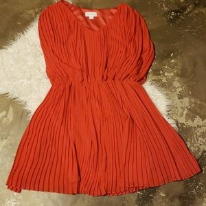 Jessica Simpson Coral pleated dress 12